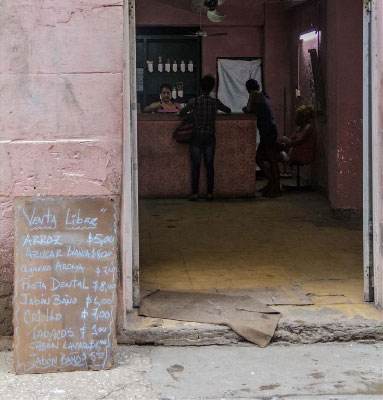 "A neighborhood Cuban ""bodega"" store."