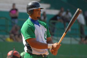 Jose Dariel Abreu in his Cienfuegos uniform.