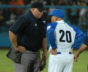 Cesar Valdes quits umpiring at 47.