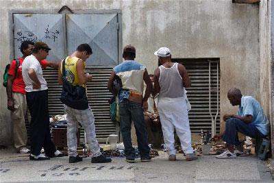 Havana street vendors.