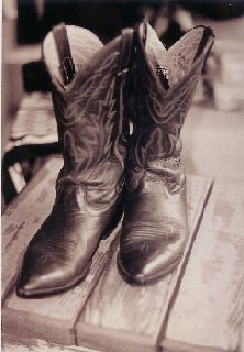 My favorite boots which I can no longer wear because of  my disability.