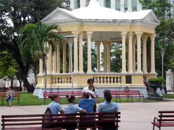 Santa Clara's central park.