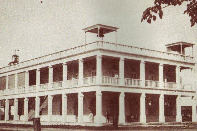 The Rosario Sugar Mill offices in its heyday.