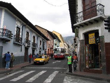 Street in Quito, Ecuador