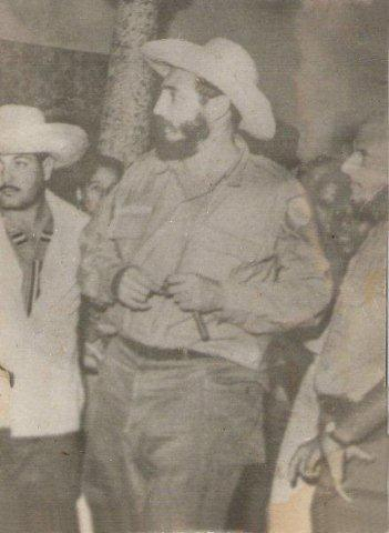 Fidel Castro visits Aguacate in 1961.