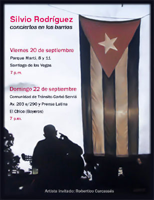 Carcasses voiced his demands before thousands of people, during a concert aired live on Cuban television (Photo: Raquel Perez).