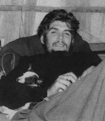 Che with his little dog.