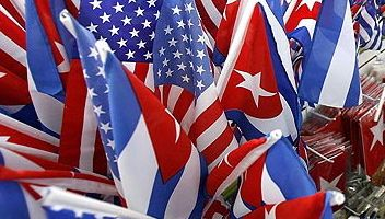 Cuban and US Flags