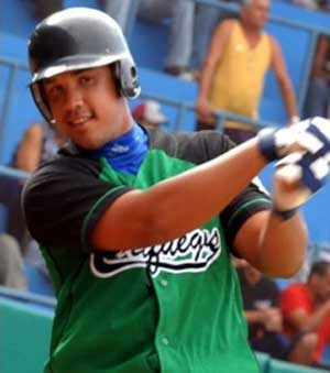 Jose Dariel Abreu in his home town Cienfuegos unifiorm.
