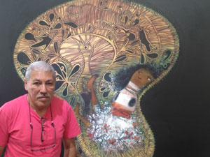 Cuban painter Pedro Pablo Oliva at the  Latin Art Core gallery in Miami. Foto: Café Fuerte