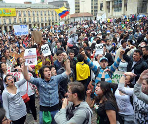 ¿Cuál sería la reacción del gobierno cubano antes una manifestación como esta en Colombia? Foto: cubadebate.cu