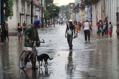 Havana street after a heavy rain. Photo: Juan Suarez