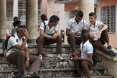 Havana high school students.  Foto: Juan Suarez