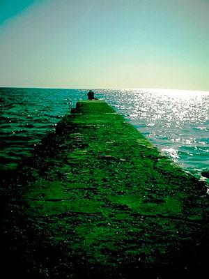 Atardecer en la ucara de la playa Siboney.