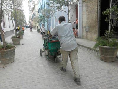 Old Havana street cleaner.