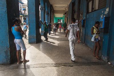 Walkway on Havana's Reina St.