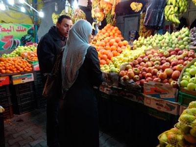 Vegetable stall in Gaza.  Photo: Julie Webb-Pullman