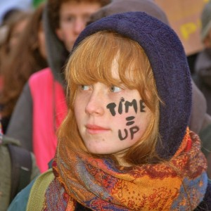 Protesters at the  Climate Change conference in Poland.
