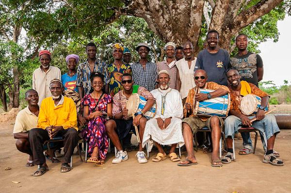 When the Cubans visited Mukpangumba. Alfredo Duquense front row far right.