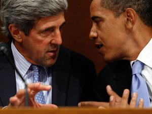 US Secretary of State John Kerry and President Barack Obama