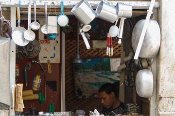 Self employed merchant.  Photo: Juan Suarez