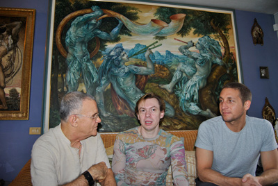 At the home of painter Cosme Proenza in Holguin.