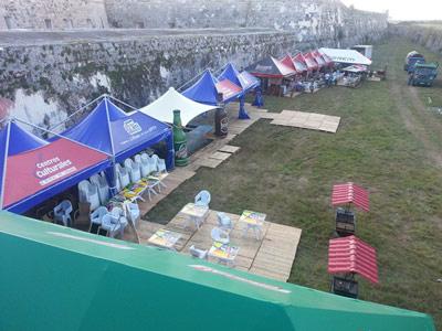 FIART setup before the fair.