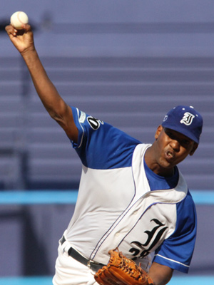 Frank Monthiet leads the league with a 1.17 ERA.