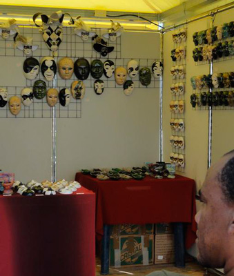 Masks at FIART 2013.