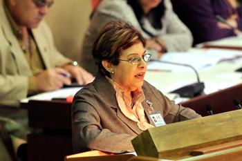 Finance Minister Lina Pedraza. Photo: Foto: José Raúl Rodríguez , www.trabajadores.cu