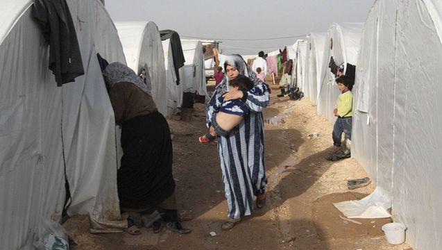 Syria refugees.