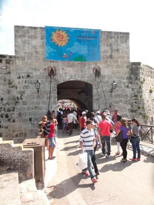 Entrance to the book fair.