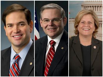 Marco Rubio, Bob Menéndez, Ileana Ros-Lehtinen