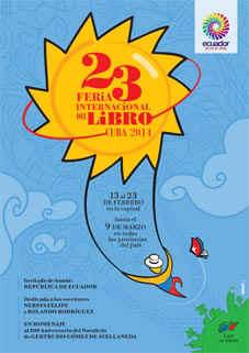 Poster for the Cuba Book Fair 2014