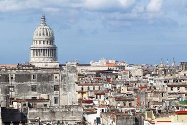 Havana's Capitolio buiding and surroundings.  Photo: Juan Suarez