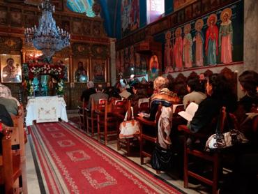 Orthodox Church Service.  Photo: Julie Webb-Pullman