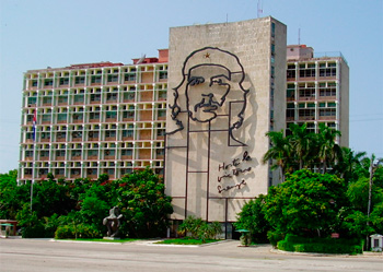 The headquarters of the MInistry of Interior in Havana.