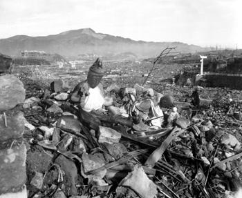 Nagasaki temple destroyed.  Foto: wikipedia.org
