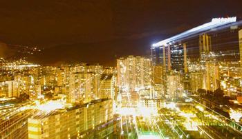 Caracas by night.  Photo: Caridad