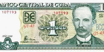 The regular Cuban peso.