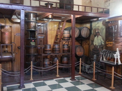 Inside the Bocoy Rum shop.