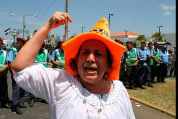 Women's Day protest in Nicaragua.  Foto: Alejandro Sanchez / El Nuevo Diario