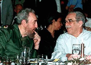 Fidel Castro with Gabriel Garcia Marquez