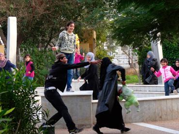 Family fun in Gaza.  Photo: Julie Webb-Pullman