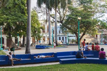 Havana park.  Photo: Juan Suarez