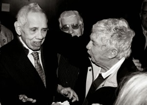 Orlando Bosch (left) with Luis Posada Carriles in Miami.