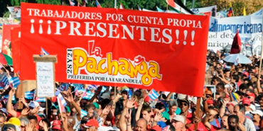 The private La Pachanga cafeteria was present at last year's May Day Workers Parade.