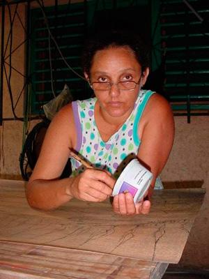 Cuban painter Eidania Perez