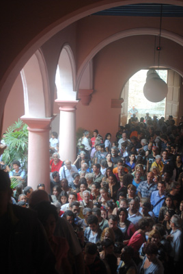 Opening of Tomas Sanchez first show in Cuba in 27 years.
