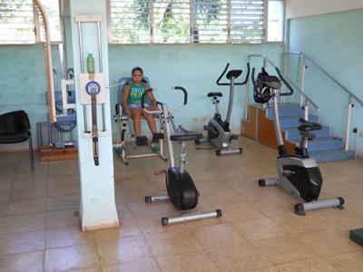 A gym area.
